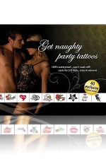Tatouages Plan Coquin - Get Naughty Party Tattoos : 1 Set de 40 Tatouages coquins temporaires pour inciter à la débauche!
