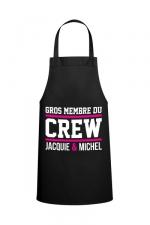 Tablier Jacquie & Michel Crew - Le tablier Jacquie & Michel Crew pour pimenter vos réceptions entre amis.
