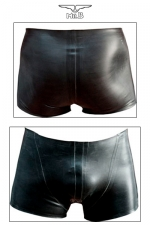 Rubber Shorts - Fin de série : uniquement disponible en taille XS. Short court en latex véritable aux découpes anatomiques avantageuses.