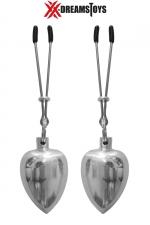 Pinces et poids aluminium 50g - Paire de pinces avec poids en aluminium brillant et poli, environ 50 g par poids, marque XXX-Dreamtoys.
